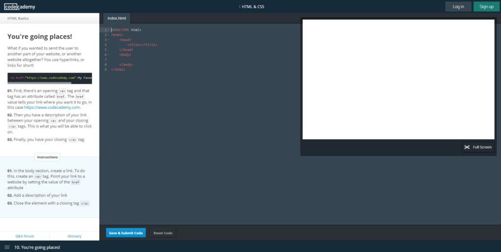 codeacademy html css